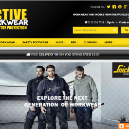 Webstore for Work-Wear Retailer